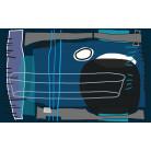 Composition 5 blue-petrol